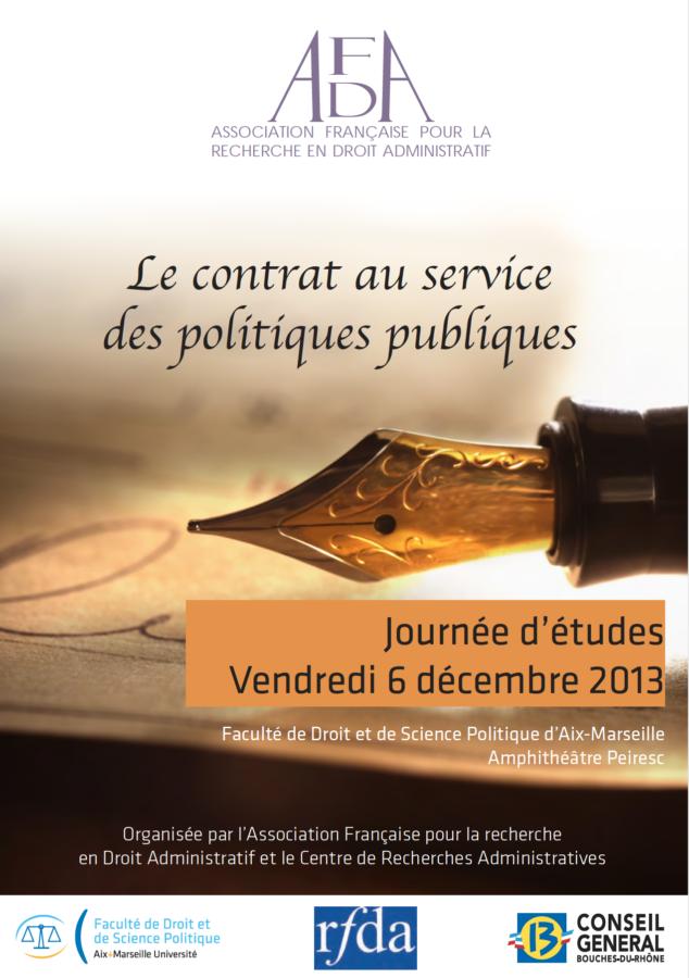 le contrat au service des politiques publiques